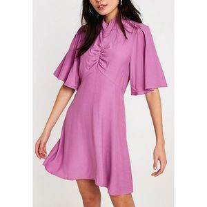 Free People Be My Baby Ruched Dress in Pink